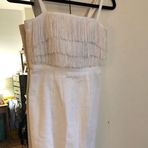H&M white fringed cocktail dress, NEW w tags, 4